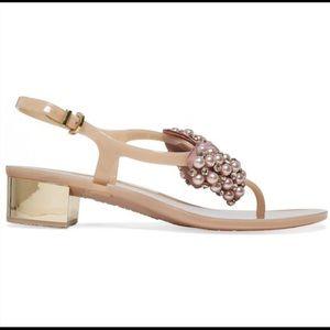 Enzo Angiolini  Aiza Embellished Bow Thong Sandal